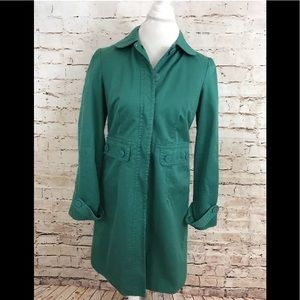 Marc Jacobs Turquoise Peter Pan Trench Peacoat